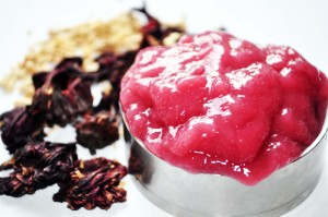 Natural hair wash with soapwort and hibiscus flower